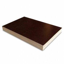 Древесно-плитные материалы - Фанера ламинированная для опалубки (тополь) т. 18 мм 2440х1220 мм, 0