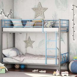 Кровати - Двухъярусная кровать Севилья-2.01 комби (серый/голубой), 0