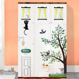 Шкафы, стенки, гарнитуры - Детский шкаф дизайнерский с рельефной отделкой, 0