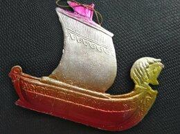 Ёлочные украшения - ✓✓✓Ёлочная игрушка редкая «Галера»10×7,5см.…, 0