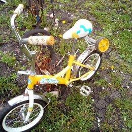 Велосипеды - Детский велосипед с дополнительными колёсами, 0