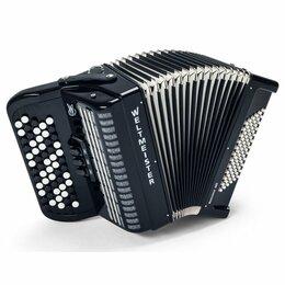 Аккордеоны, баяны, гармони - Weltmeister ROMANCE 602 BLACK Баян двухголосый 60/72/II/3, цвет чёрный, 0