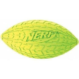 Игрушечное оружие и бластеры - Мяч для регби резиновый пищащий, NERF, 100мм, 0