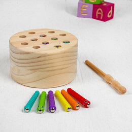 Развивающие игрушки - Игрушка развивающая рыбалка 11,5 х11,5 х6,5 см   4479098   , 0