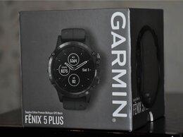 Умные часы и браслеты - Garmin Fenix 5 Plus Sapphire DLC Titanium (новые), 0