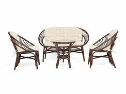 Плетеная мебель - Комплект для отдыха Turkey (стол со стеклом + 2…, 0