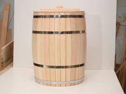 Бочки, кадки, жбаны - Бочка деревянная с крышкой 100 литров, 0