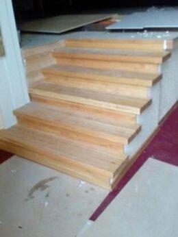 Лестницы и элементы лестниц - Лестница из сращенной лиственницы для офиса…, 0