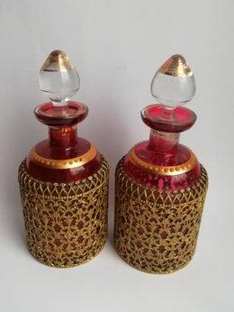 Этикетки, бутылки и пробки - Старинные флаконы для духов, Франция 2шт, 0