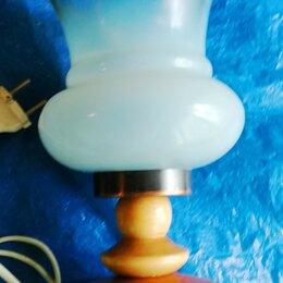 Ночники и декоративные светильники - лампа настольная высота 20 см. стекло дерево металл, 0