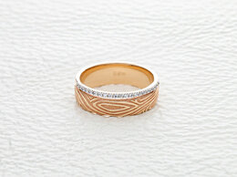 Кольца и перстни - Кольцо с 21 фианитами из красного золота, 0