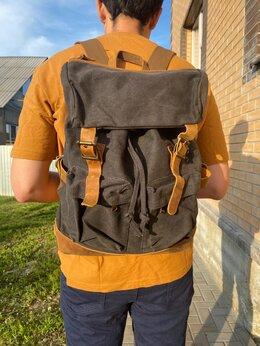 Рюкзаки - Рюкзак новый холщовый, 0