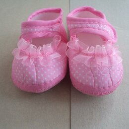 Ботинки - Детские ботинки в горошек, 0