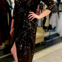 Платья - Платье с золотыми пайетками, 0