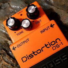 Процессоры и педали эффектов - Boss DS-1 Distortion гитарная педаль дисторшн в отличном состоянии, 0