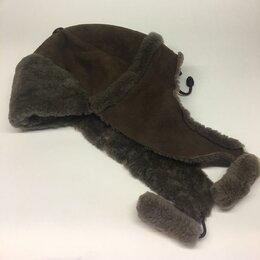 Головные уборы - Детская шапка-ушанка из овчины для ребенка от 5 до 12 лет., 0