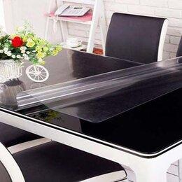 Скатерти и салфетки - Прозрачная скатерть плёнка на стол 160x60 толщина 1 мм мягкое стекло, 0