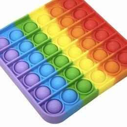 Игрушки-антистресс - POP IT Игрушка-антистресс квадрат (цветная), 0