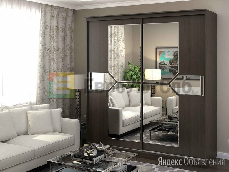 ШКАФ МИРАЖ 2.0 по цене 21700₽ - Шкафы, стенки, гарнитуры, фото 0