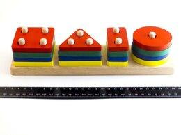 """Стеллажи и этажерки - Дерево игрушка """"Геометрик"""" классический (4 фигуры), 0"""