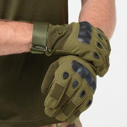 Перчатки и варежки - Перчатки тактические OKLAI, олива, 0