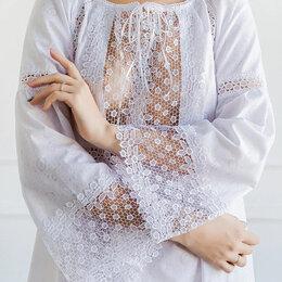 Домашняя одежда - Ночная сорочка. Батист, кружево. Размер 46. Новая., 0