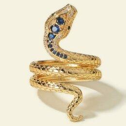 Кольца и перстни - Кольцо змейка новое., 0