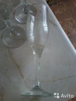 Бокалы и стаканы - Бокалы для шампанского (5штук) высота 20см.,…, 0