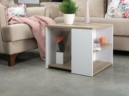 Столы и столики - Компактный журнальный столик с полками, 0