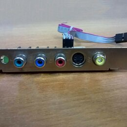 Прочие комплектующие - Планка расширения S-video-3 RCA (Y_PR_PB/AV), 0