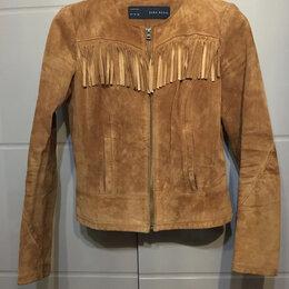 Куртки - Замшевая куртка Zara, 0
