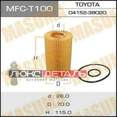 MASUMA MFCT100 Фильтр масляный  по цене 324₽ - Двигатель и топливная система , фото 0