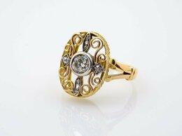 Кольца и перстни - Кольцо с крупным бриллиантом.Царизм., 0