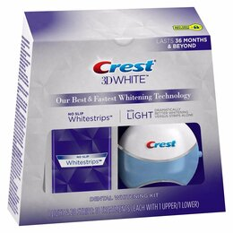 Полоскание и уход за полостью рта - Полоски Crest 3D White Whitestrips with Light, 0