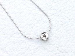 Колье - Колье с бриллиантом из белого золота, 0