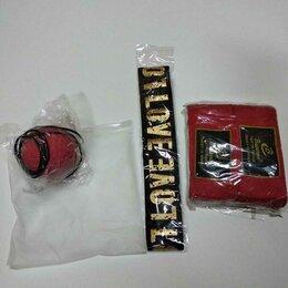 Тренировочные снаряды - Файт-бол мяч для тренировок резиновый в чехле + пара боксёрских бинтов в подарок, 0