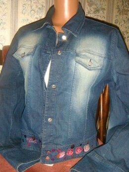 Куртки - Куртка джинсовая Iceberg с пайетками и вышивкой, 0