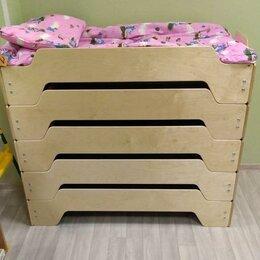 Мебель для учреждений - Штабелируемые детские кровати. Мебель Монтессори для детского сада, 0
