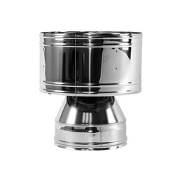Дымоходы - Дефлектор V50R D120/220, нерж 321/304 (Вулкан), 0