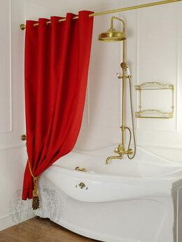 Шторы и карнизы - Штора для душа/ванны тканевая красная Migliore, 0