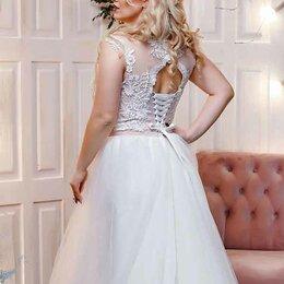 Платья - Свадебное платье с фатиновой юбкой, 0