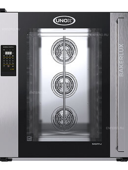 Жарочные и пекарские шкафы - Печь конвекционная UNOX XEFT-10EU-ELRV без…, 0