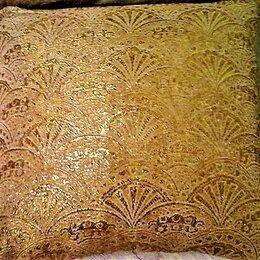 Декоративные подушки - Подушки из золотой парчи и велюра, новые, 0