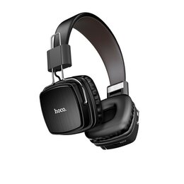 Наушники и Bluetooth-гарнитуры - Беспроводные наушники Hoco Gleeful W20 чёрная Hoco, 0