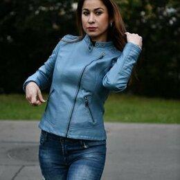 Куртки - Куртка кожзам женская, 0