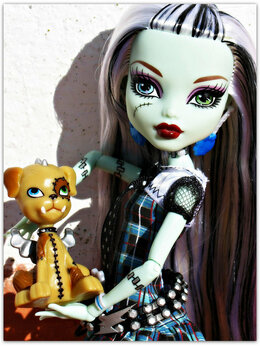 Куклы и пупсы - Фрэнки Штейн базовая с питомцем Монстер Хай, 0