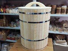 Бочки, кадки, жбаны - Кадка из кедра с гнетом и крышкой 150 л, 0