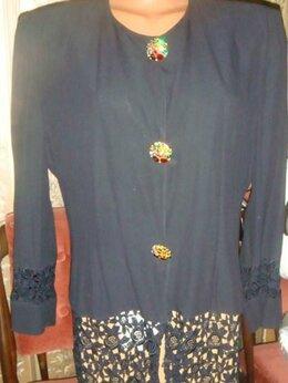 Пиджаки - Пиджак офисный с кружевом Италия винтаж 90х…, 0