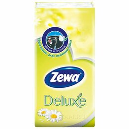 Влажные салфетки - Носовые платки Zewa Deluxe Ромашка 10 шт, 0