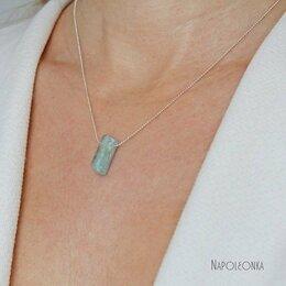 Кулоны и подвески - Натуральный аквамарин (берилл) на серебряной…, 0
